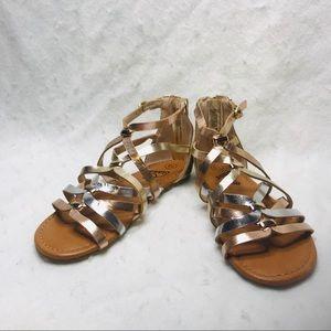 Art Class Size 13 Rose Gold Silver Sandals